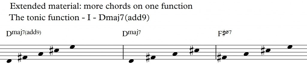 Diatonic Approach 3 - Diatonic 7th chords on a II-V-I in D_ Dmaj9