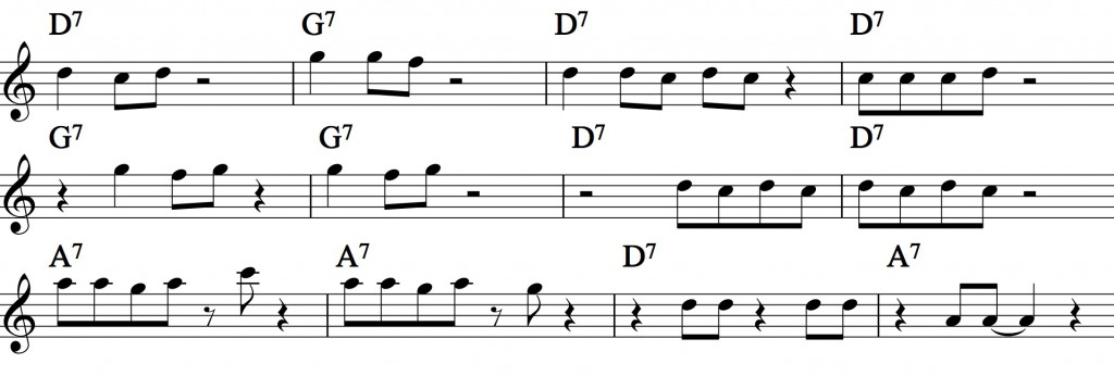 Blues - with a pentatonic scale_0014 example 1