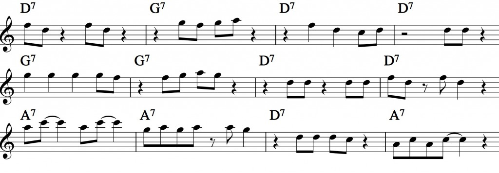 Blues - with a pentatonic scale_0015 example 2