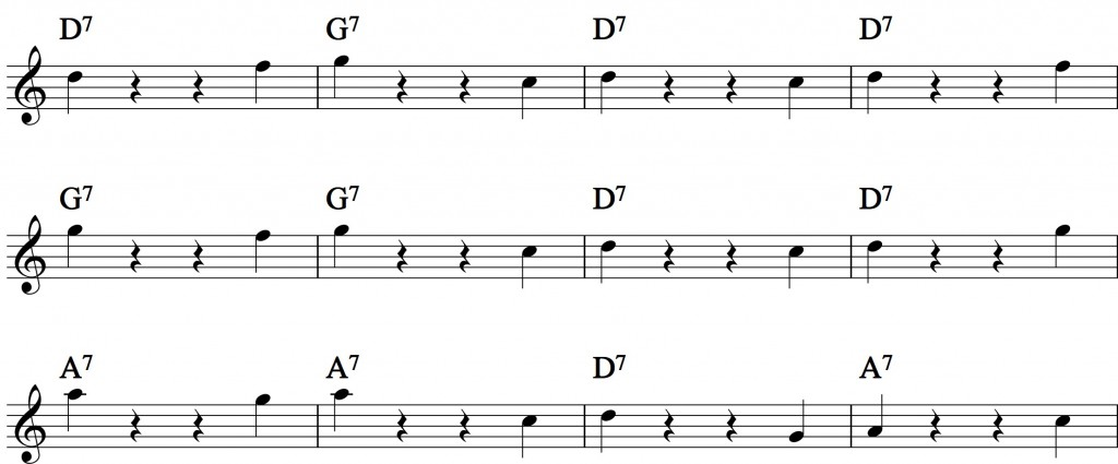 Blues - with a pentatonic scale_3