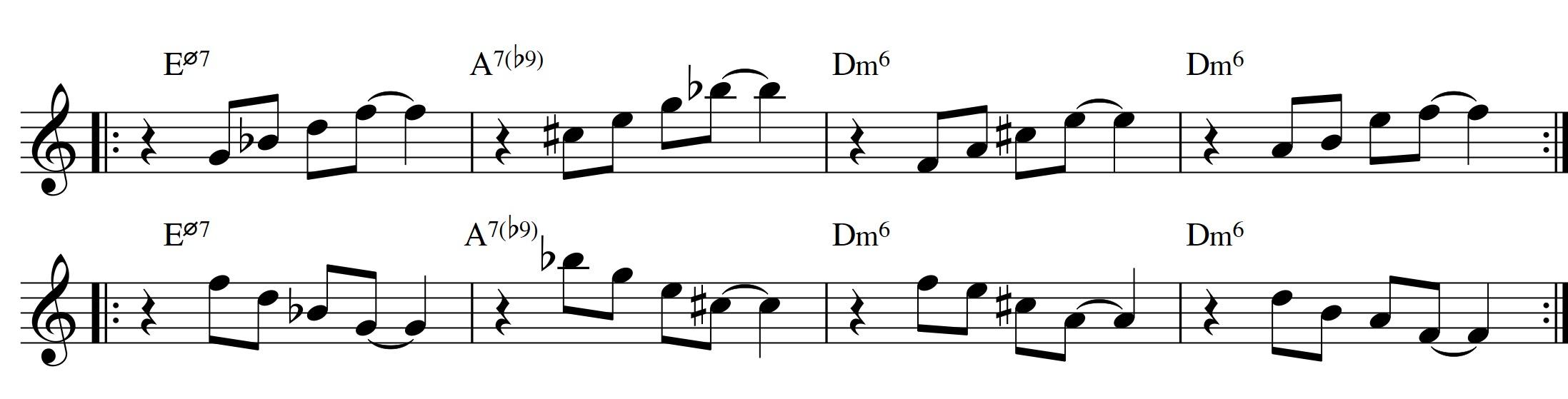 Diatonic approach 6 minor ii v i 7th chords sren ballegaard diatonic approach 6 minor ii v i diatonic 7th chords7th chord exercise 3rd hexwebz Choice Image
