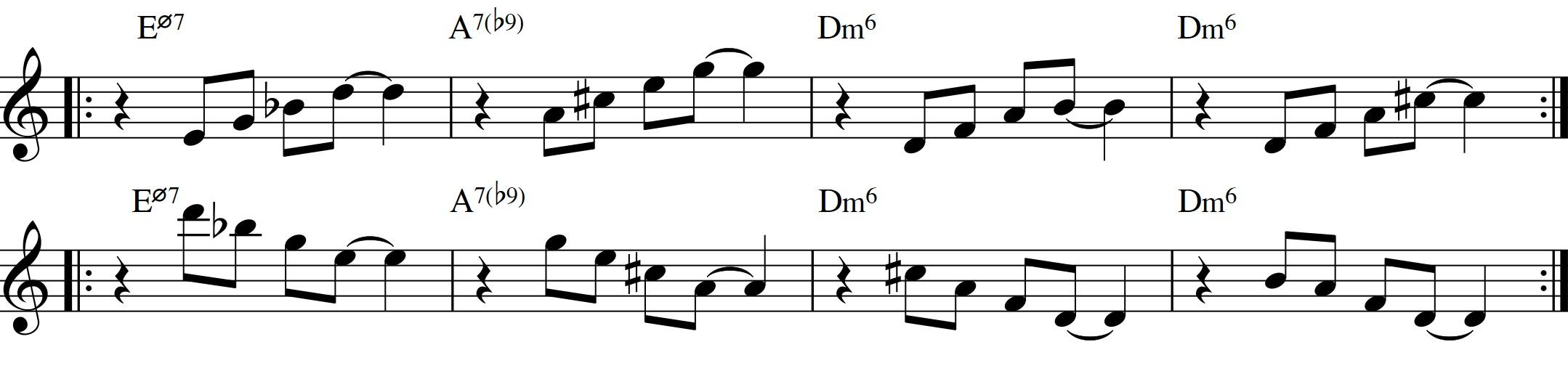 Diatonic approach 6 minor ii v i 7th chords sren ballegaard diatonic approach 6 minor ii v i diatonic 7th chords7th chord exercise root hexwebz Choice Image