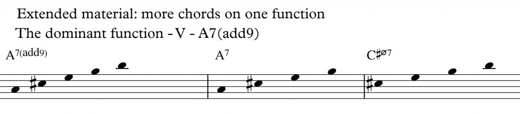 Diatonic Approach 3 - Diatonic 7th chords on a II-V-I in D_A9