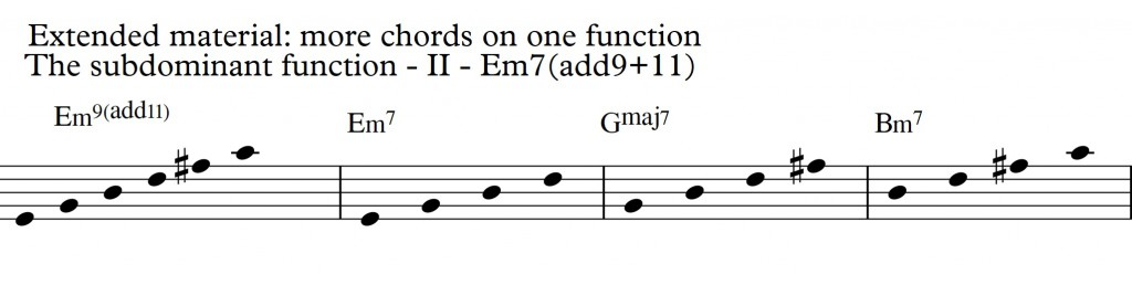 Diatonic Approach 3 Diatonic 7th chords on a II-V-I in D_Em9