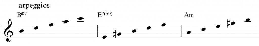 Diatonic approach 4 - minor II-V-I_0002 - arpeggios