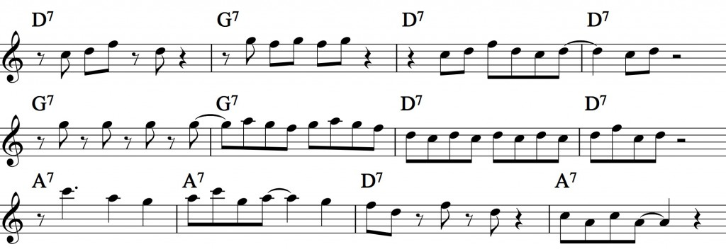 Blues - with a pentatonic scale_0016 example 3