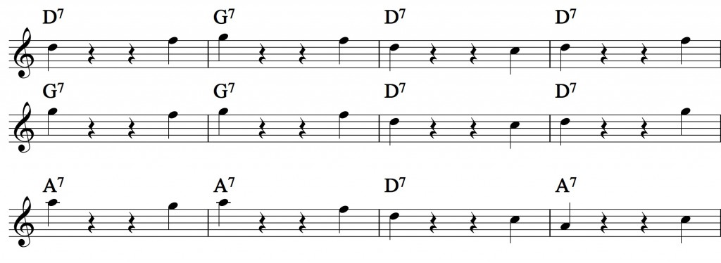 Blues - with a pentatonic scale_1