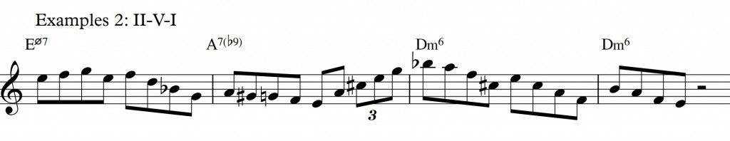 Diatonic approach 6 - minor II-V-I - diatonic 7th chords_example 2